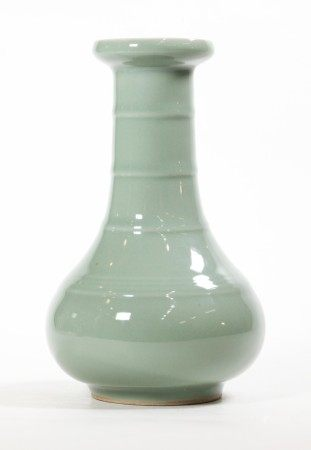 "Chinese ""Bamboo Neck"" Longquan Porcelain Vase"
