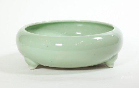 Chinese Pale Celadon Porcelain Incense Burner