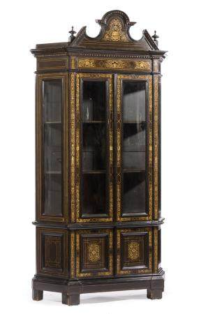 Italian Lombardy Inlaid Collector's Cabinet