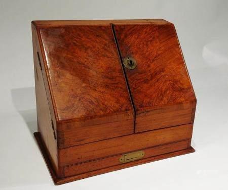 Antique English Walnut Stationery Cabinet. NO RESERVE!