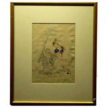 Qajar Persian Miniature Painting, Signed