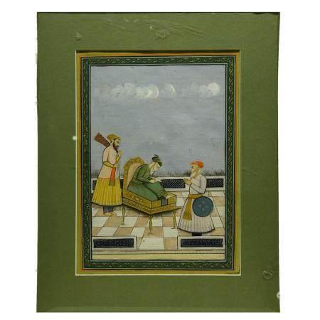 Indian Miniature Painting of a Maharajah