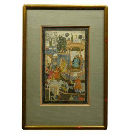 Indian Miniature Painting, Court Scene