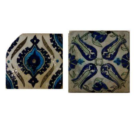 Two Damascus Tiles, 18th Century AD