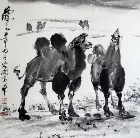 现代 黄胄 骆驼