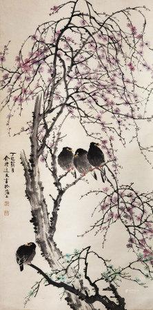 清代 俞礼 花鸟
