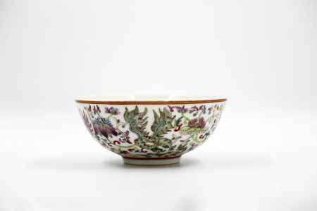 Chinese Qing Dynasty Dao Guang Famille Rose Porcelain Bowl