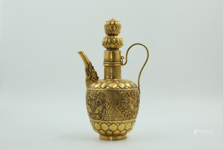 Chinese Liao Period Pure Gold Pot