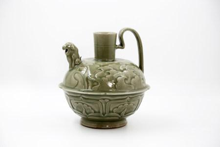 Chinese Yaozhou Carved Porcelain Pot