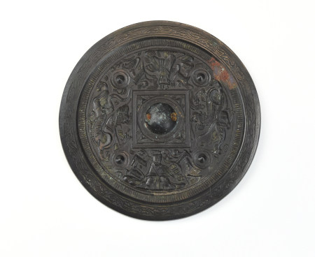 Chinese Carved Bronze Mirror