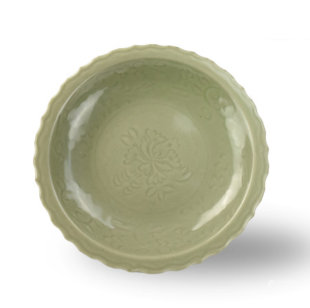 Chinese Celadon Longquan Ware Charger,Ming Dynasty