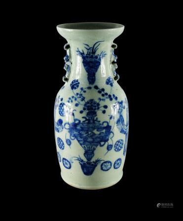 青花染付花瓶