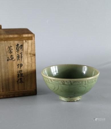 明 龙泉青瓷花纹碗