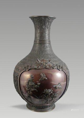 Balusterförmige Bronzevase.