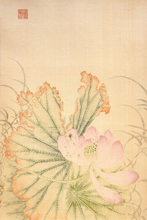 A Chinese painting of flowers