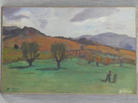 Lucien MAINSSIEUX (1885-1958)Paysagehuile sur toile 60 x 92 cm.