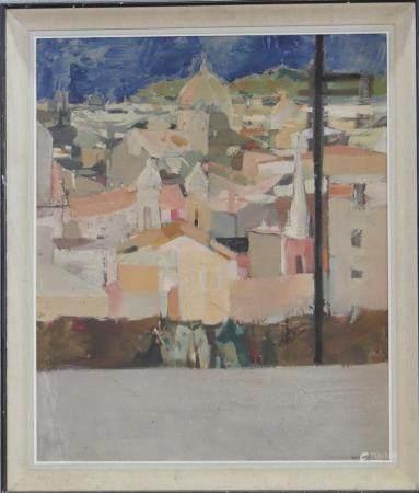 Paul AMBILLE (1930-2010)Vue de Florencehuile sur toile signée90 x 75 cm