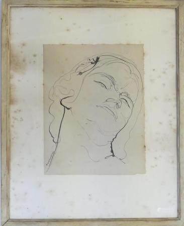 Henry DE WAROQUIER (1881-1970)Portrait de femme Dessin à la plume, signé en bas à gauche et dat