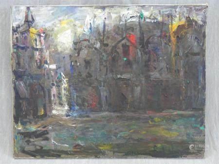 Elemer VAGH-WEINMANN (1906-1990)Rue de Parishuile sur toile signée73 x 93 cm.