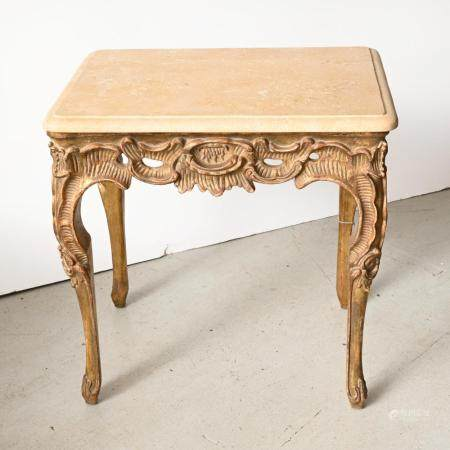 "Dennis & Leen ""Rocaille"" giltwood table"