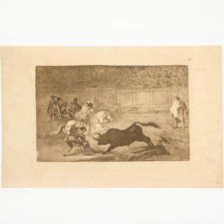 Francisco Goya, Tauromaquia bullfighting etching