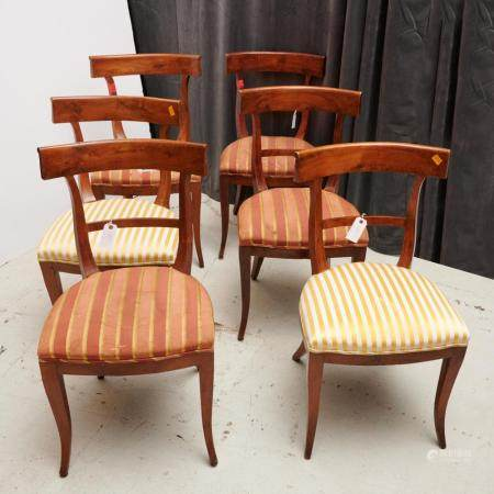 (6) Continental Neoclassical style dining chairs