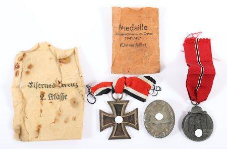 DREI ORDEN UND AUSZEICHNUNGEN, Eisernes Kreuz II. Klasse 1939, Hersteller 24, Arbeitsgemeinschaft