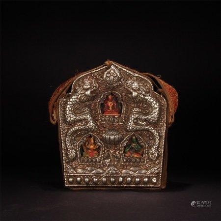清 西藏風格 嘎烏盒