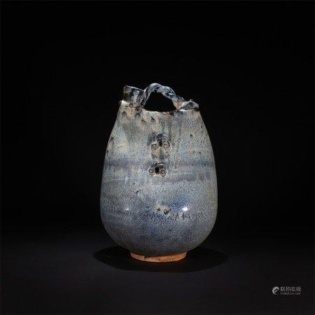 窯變釉皮囊壺