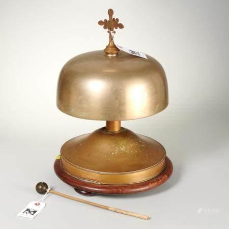 Antique brass altar bell