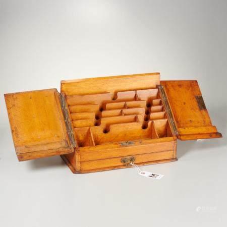 English slant front stationary box