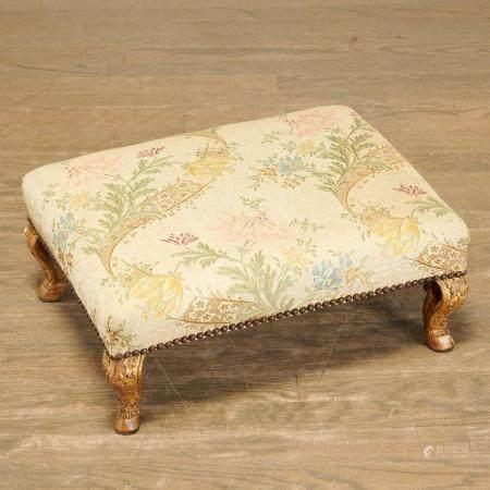 Regence carved giltwood footstool