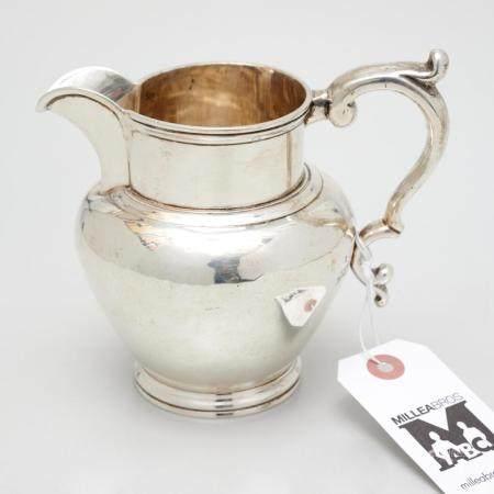 Hayden & Gregg coin silver cream pitcher