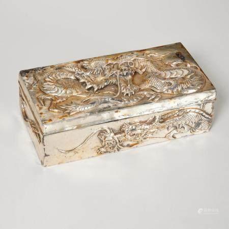 Kuhn & Komor Asian Export silver dragon box