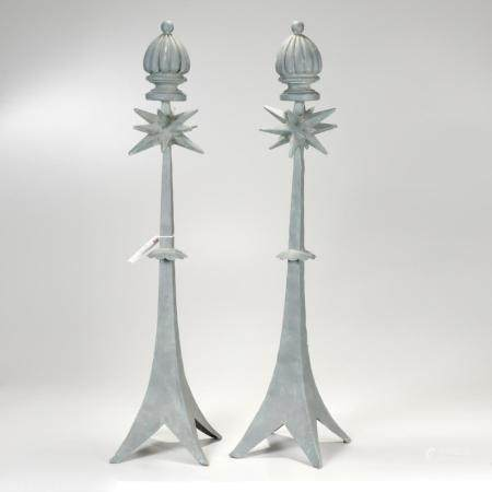 Pair French decorative spire ornaments