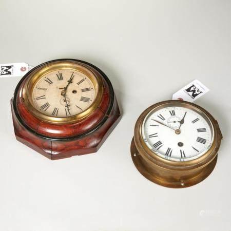 (2) gallery clocks, incl. Waterbury