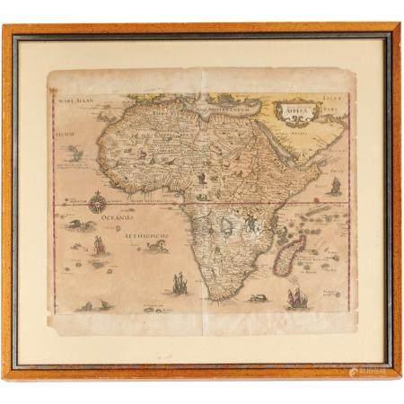 Map: nova descriptio Africae, c. 1638