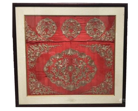 Antique Chinese Framed Embroidery Painting