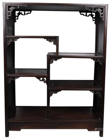 A SUANZHI DISPLAY CABINET 19TH C
