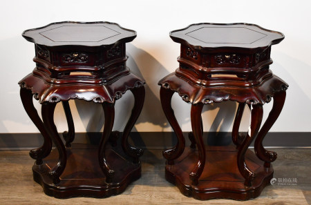 A PAIR OF SUANZHI STANDS EARLY 20TH C