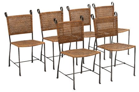 A set of six chairs by Ched Berenguer-Topacio