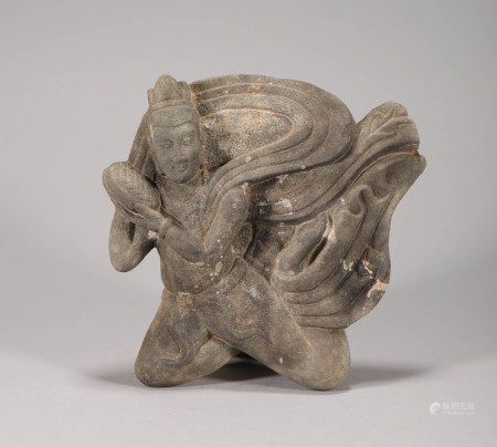 Stone Ornament in FeiTian Design from Northern Wei 北魏时期石頭飛天