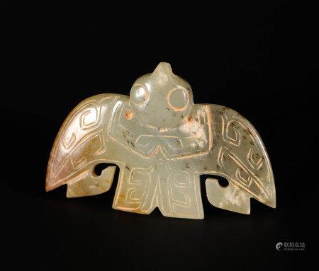 HeTian Jade Ornament Bird from ShangZhou 商周和田玉鳥