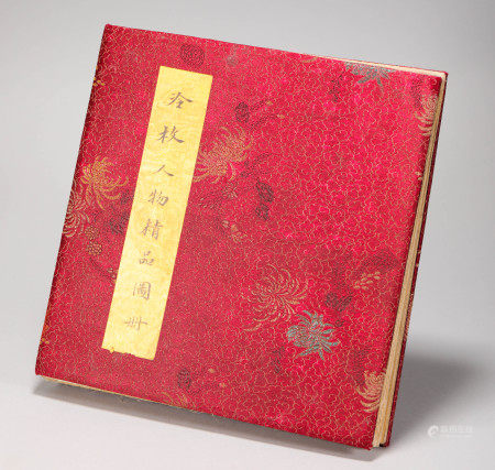 "Ink Painting ""LengMei"" Character Album from Qing 清代水墨畫 冷枚人物册頁"