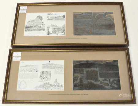 WAINWRIGHT, A, A print and original printing plate from 'Westmorland Heritage' (1975) framed and