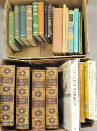 WILSON, Rev John, The Rural Cyclopedia, 4 vols, 4to, 1852-54. Half morocco gilt. With other books (2
