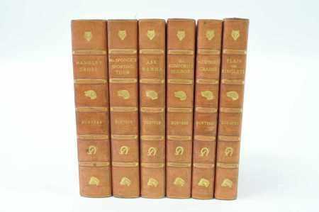 SURTEES, R S (Sporting novels) Bradbury, Agnew and Co., c.1890. 6 vols, hand coloured plates, half