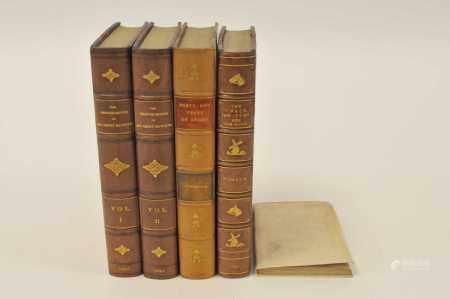 'NIMROD', The Chace, The Turf and The Road, 1837. With 14 hand-coloured plates. Half morocco. With