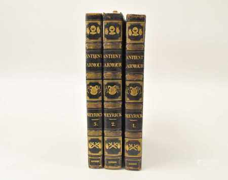 MEYRICK, Samuel Rush, A Critical Enquiry into Antient Armour, 3 vols folio, 1824. With 80 plates, 70