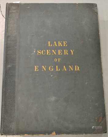 PYNE, J B, The English Lake District. Elephant folio, Manchester 1853. With litho title and 24